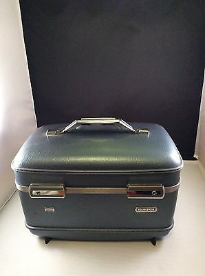 VTG American Tourister  Blue Travel Carry On Suit Case