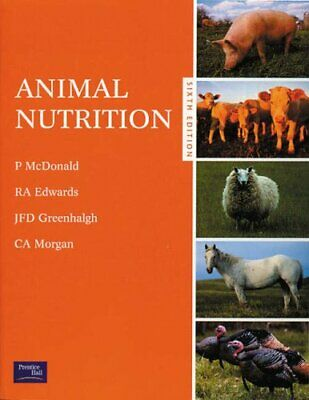 Animal Nutrition by McDonald, Peter Paperback Book The Cheap Fast Free Post