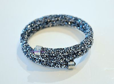 Swarovski Crystaldust Bangle Double Gray 5255898 S Authentic Brand New In Box