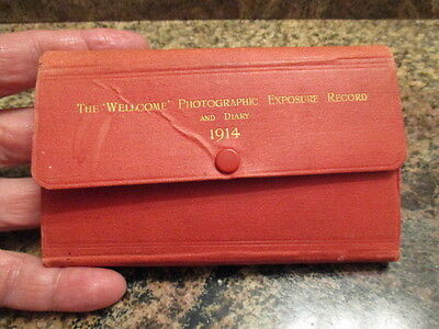 """The """"wellcome"""" Photographic Exposure Record And Diary Dated 1914"""