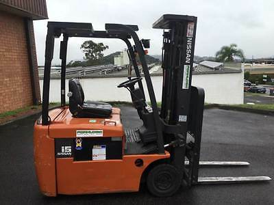Forklift Nissan Counterbalance Electric with Container Mast