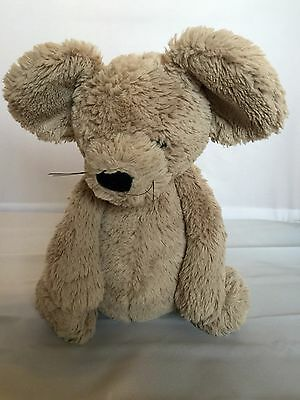 """JELLYCAT 12"""" Bashful Mouse With Whiskers Plush RARE HTF"""
