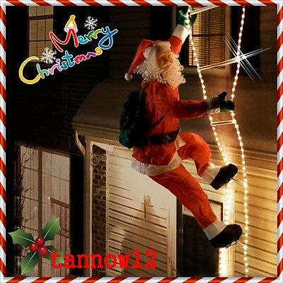 SANTA CLAUS OUTSIDE 240cm ON THE SHINING LADDER
