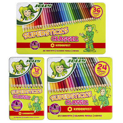 Jolly Supersticks Classic & Metallic + Neon-Mix Farbstifte Buntstifte Malstifte