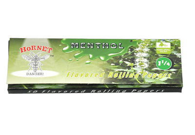 Hornet Flavoured Rolling Papers 1 1/4 Size 50 Leaves Menthol cigarette smoking