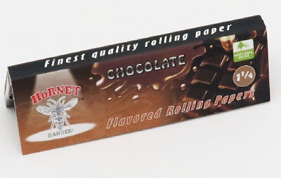 Hornet Flavoured Rolling Papers 1 1/4 Size 50 Leaves Chocolate cigarette smoking