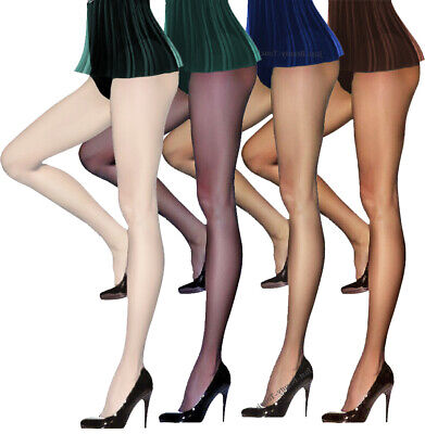 T- Band Summer Tights Sheer to Waist 15 Denier Tights  Sizes S - XL