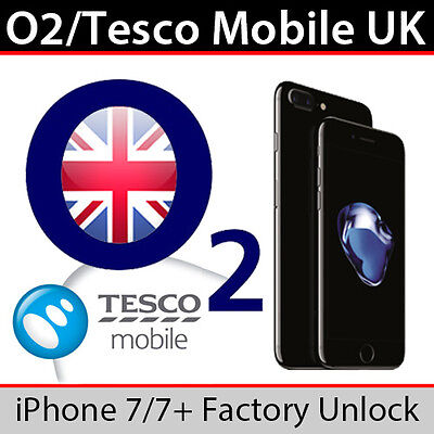 O2UK/Tesco Mobile iPhone 7/7 Plus Factory Unlock Service