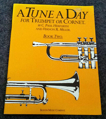 A TUNE A DAY for Trumpet or Cornet Book 2  Herfurth & Miller Music Instruction