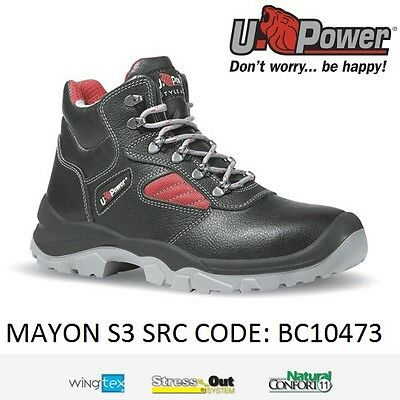 Upower Scarpa Scarpe Antinfortunistiche S3 Src Alta Protezione Mayon U-Power