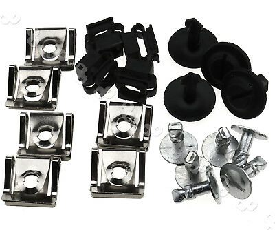 20X Undertray Guard Engine Under Cover Fixing Clips Screw Kit For AUDI A4 A6 A8