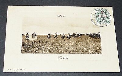 Cpa Carte Boussuge 1909 Colonies France Afrique Maroc Maghreb Fantasia