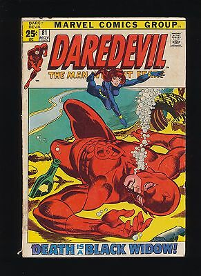 Daredevil #81 (Marvel 1971)! 1st Black Widow In Title / New Costume! SEE SCANS!