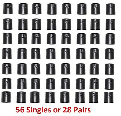 "1"" Diameter Wire Shelf Clips Shelving Split Sleeves Lock Locking Plastic 28 pair"
