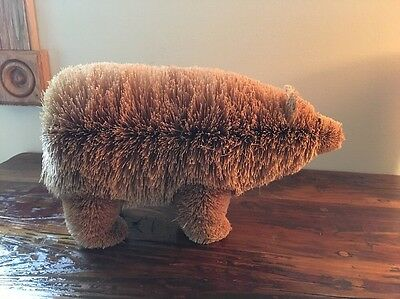 "Buri Bristle Natural Bear Figure Buri Animal 11"" long by 7 1/2"" Tall"