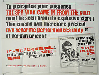 SPY WHO CAME IN FROM THE COLD (1965) Original Quad Film Poster - Richard Burton