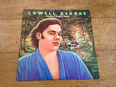 Lowell George thanks i'll eat it here USA vinyl LP 1979