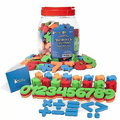 Roscoe Learning 124 Piece Magnetic Numbers and Counters Math Skills Set