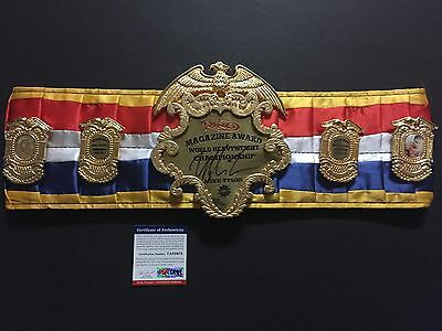 Autographed/Signed MIKE TYSON The Ring Boxing Replica Championship Belt PSA/DNA