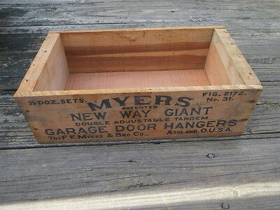 Myers New Way Giant Garage Door Hangers Wood Box Shipping Crate