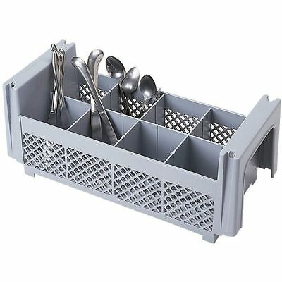 Cambro 8FBNH434151 Gray 8-Compartment Flatware Basket without Handles