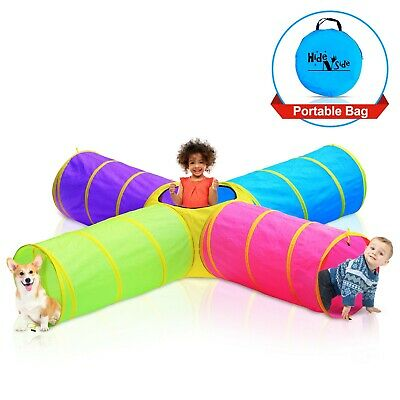 4-way Kids Play Tunnels. 8-ft Pop up T unnel Toy, Hide-n-Side. FREE EXP Ship!!