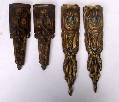 Matching Pair of French Bronze Furniture Embellishments + 2 others