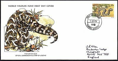 FDC - Lesotho - 1979 World Wildlife Fund, Puff Adder - First Day Cover