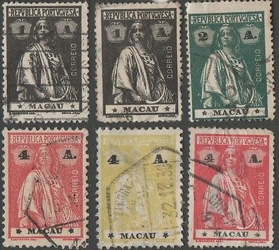 Macau stamps. 1913 -1922 Ceres. Cancelled