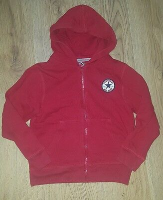 childs red converse hoodie/zip up jacket. 8-9-10 years. Boys/girls/unisex