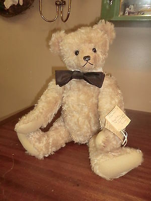 """Mary George Original Curly Mohair Antique Style Teddy Bear """"Quincy"""" #5/5 @1996"""