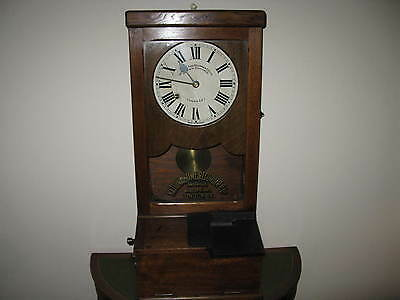 Antique National Time Recorder Autograph clocking on clock. Early 1900's