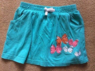 girls skirt turquoise green butterflies butterfly print age 3-4 years stretch