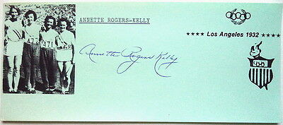 ANNETTE ROGERS KELLY 1932/36 OLYMPIC 4 x 100m AUTOGRAPH