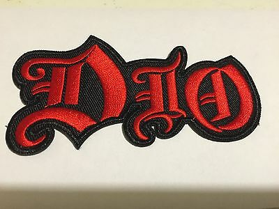 DIO METAL ROCK BAND LOGO Soft EMBROIDERED IRON/SEW ON NEW PATCH FREE SHIPPING