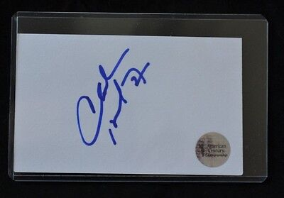 Charles Barkley Authentic Autographed Index Card! American Century Championship!