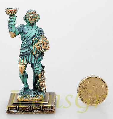 Ancient Greek Olympian God Miniature Sculpture Statue Zamac Vachos Dionysus GG