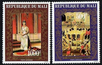 Mali stamps. 1978 Airmail - The 25th Anniversary of Coronation. MNH