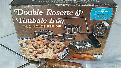 NORDIC WARE Vintage Double Rosette & Timball Iron