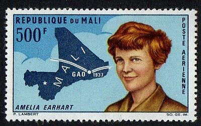 Mali stamps. 1967 Airmail - The 30th Anniversary of Amelia Earhart's Flight. MNH