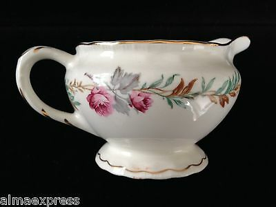 PG Pope Gosser LARGO #3195 CCP China Pink Flowers Green Leaves CREAMER PITCHER