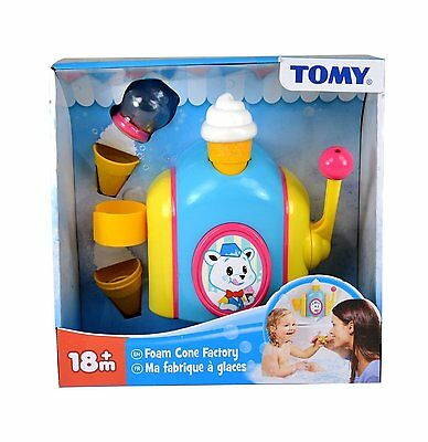 TOMY Foam Cone Pretend Ice Cream Factory Toddler & Baby Bath Toy