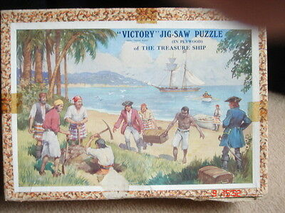 Vintage Victory THE TREASURE SHIP 175 piece wooden jigsaw island complete