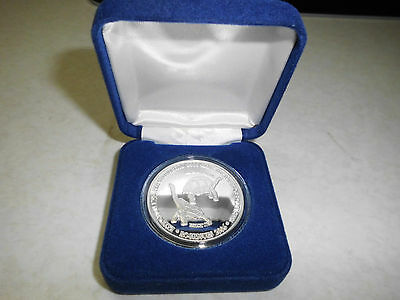 "Mauritius / Rodrigues  Silver Medal  ""Reintroduction of Giant Tortoise""  Proof"
