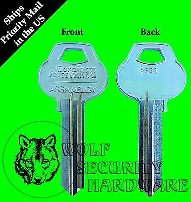 Assa Abloy Corbin Russwin 59B1 Keyway Profile 6 Pin Key Blank