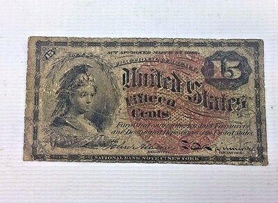 15c Fractional Currency - Civil War Era Note - Fr#1271 Fourth issue 1111-165
