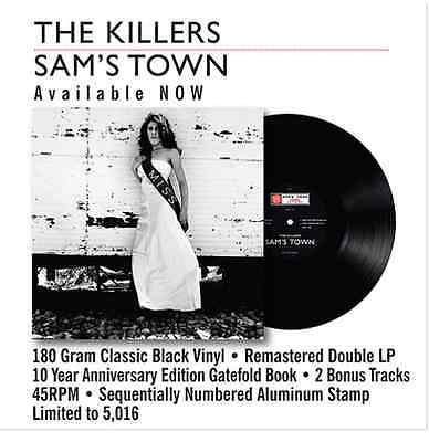 THE KILLERS - 10th ANNIVERSARY SAM'S TOWN VINYL LP Limited Edition *sold out*