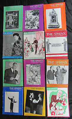 """The full year run of """"The Sphinx Magazine,"""" from 1950. 12 Issues"""