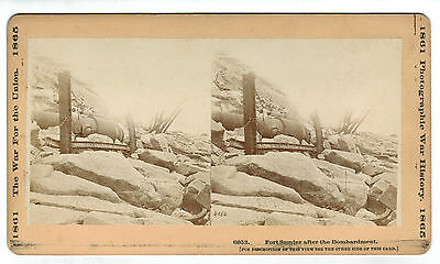 War Photo Co. Civil War Tall Stereoview - Fort Sumter #6052