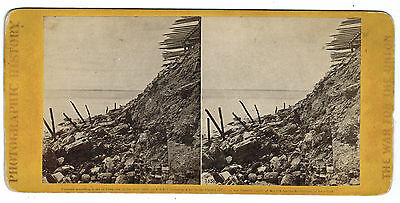 E. & H.T. Anthony Civil War Stereoview - Fort Sumpter Debris, #3050